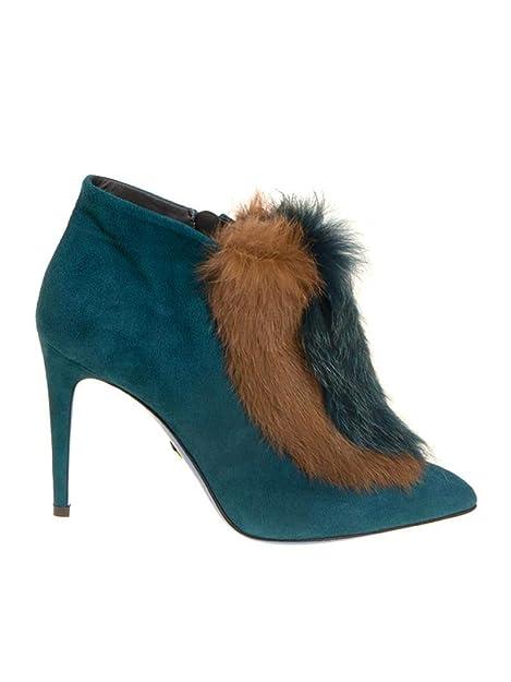 Loriblu Mujer 8INT9147NC1B01509PRU Azul Claro Gamuza Botines: Amazon.es: Zapatos y complementos