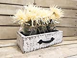 Rustic Reclaimed Wood Box, Wooden Painted Drawer, Reclaimed Box Crate, Mason Jar Centerpiece, Jars