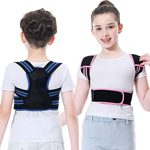 Professional Posture Corrector for Kids, Adjustable Upper Back Posture Brace for Teenagers Boys and Girls Under Clothes Spinal Support to Improves Slouch, Prevent Humpback, Relieve Back Pain