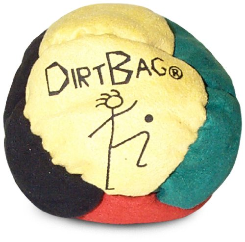 World Footbag Dirtbag Hacky Sack Footbag, Yellow/Black/Green/Red by World Footbag