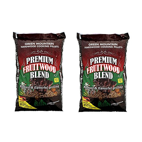 Green Mountain Grills Premium Fruitwood Grilling Pellets (2 Pack) by Green Mountain