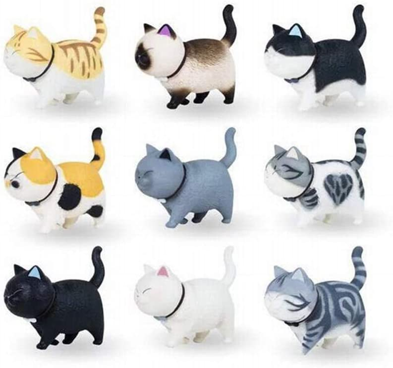9 Style Cat Refrigerator Magnets, Fridge Cat Ornament for Home Kitchen Decor
