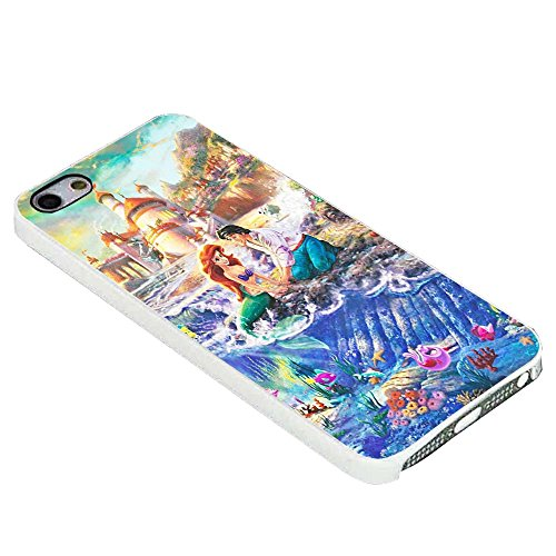 Disney The Little Mermaid Art Paint For iPhone Case (iPhone 6S plus white)