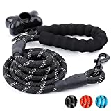 #8: Trary 5 FT Dog Leash with Comfortable Padded Handle - Reflective Leash for Night Safety - Thick Durable Nylon Rope for Small Medium Large Dogs, Black