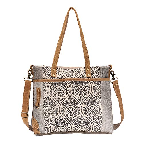 - Myra Bag Ace Upcycled Canvas & Cowhide Messenger Bag S-1476