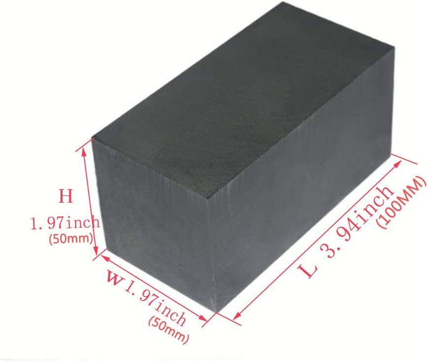 Graphite Ingot EDM Graphite Plate Smooth Polished Surface 100MMx50MMx50MM