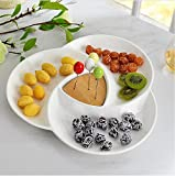 Ceramic plate Fruit plate Luncheon plate snack plate excellent for party