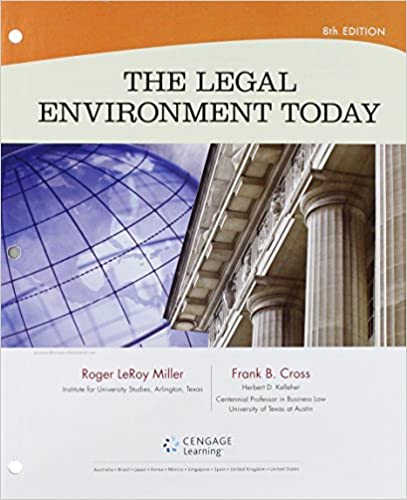 Bundle The Legal Environment Today Loose Leaf Version 8th