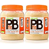 PBfit All-Natural Organic Peanut Butter Powder, 30 Ounce, Peanut Butter Powder from Real Roasted Pressed Peanuts, Good Source of Protein, Organic Ingredients (2 Pack (30 Ounce))