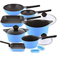 Neoflam Aeni Cookware Set 10 Pcs-Blue
