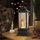 Eldnacele Christmas Snow Globe Lantern with