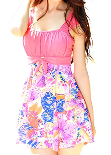 Wantdo Women's Big Size Holiday Celebrate Swimwear Beach Wear Dress Swimsuit