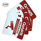 Video Surveillance Sign, CANAVIS 10Pack 24 Hours Monitored Warning Stickers for Property Under Home Business Security Cameras System