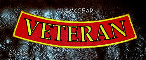 ck on RED Bottom Rocker Patches for Vest jacket ()