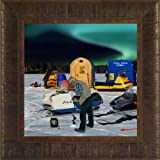 propane boat heater - Hot Spot By Todd Thunstedt 17.5x17.5 Ice Fishing Walleye Crappie Northern Sunfish Lund Hummingbird Garmin Boat Rod Real In Fisherman Field And Stream Anchor Line Tip Up Net Bobber Spear Spearing Propane Heater Gas Castle Bait Finder Chisel Framed Snowmobile Art Print Wall Décor Picture