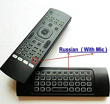 Calvas New Backlit MX3 2.4G Air Mouse Wireless Qwerty Keyboard IR Learning Remote Controller hot