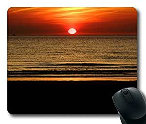 Beach Sunrise Masterpiece Limited Design Oblong Mouse Pad by Cases & Mousepads by mcsharks