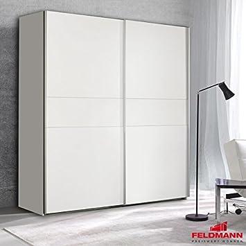 El armario de 62043 de colour blanco/blanco 2 de armario de puertas correderas 170 cm: Amazon.es: Hogar