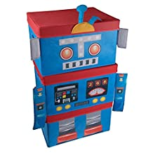 Blue and Red Robot Kid's Collapsile Toy Storage Organizer Stacking 3 Piece Set