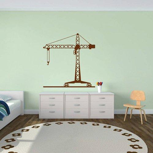 Ik1547 Wall Decal Sticker Tower Crane Machine Work Building a Bedroom