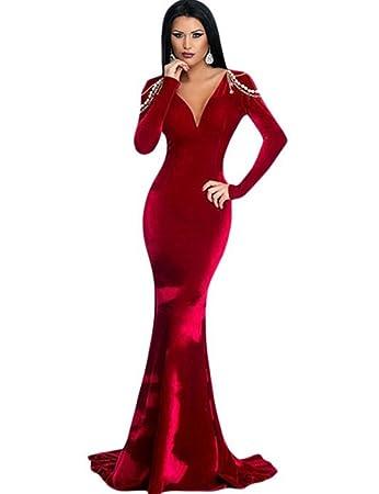 Elegantes Abendkleid, Samt & Perlen, langes Kleid Kreuzfahrt ...