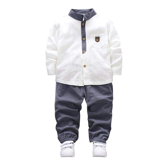 Amazon.com: Traje de bebé recién nacido + pantalones largos ...