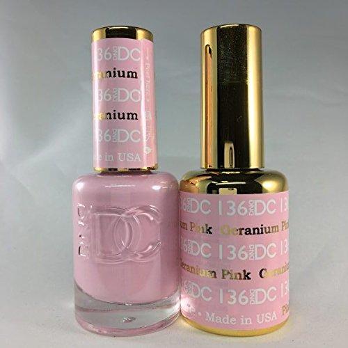DND DC Duo Gel + Polish - 136 Geranium Pink