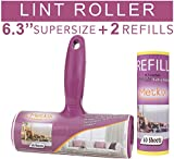Metkix Supersize 6.3 inches Lint Roller Extra Large Extra Refill Pet Hair Remover for Furniture Clothes Total 120 Sheets