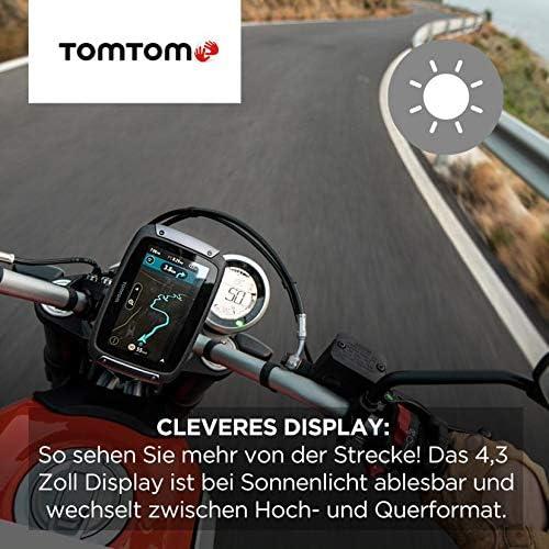Tomtom Motorrad Navi Rider 500 4 3 Zoll Kurvige Und Bergige Strecken Speziell Für Motorräder Stauvermeidung Dank Tomtom Traffic Karten Updates Europa Motorrad Halterung Updates über Wi Fi Navigation