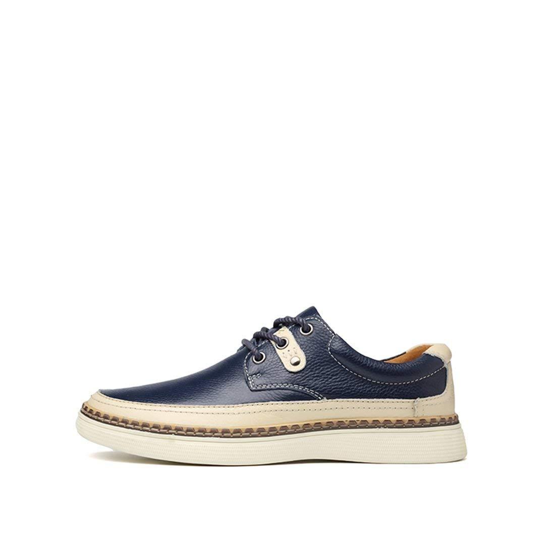 Willsego Scarpa Scarpa Scarpa da Uomo Stringata Sintetica Low-Top Dark blu Fashion scarpe da ginnastica Oxford Scarpe UK 7.5 (colore   -, Dimensione   -) 19debb