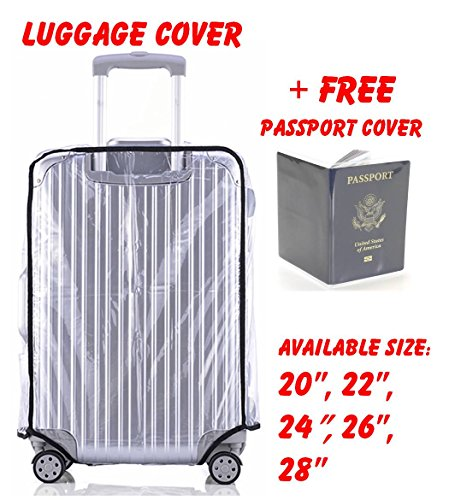 Luggage Cover Protector, Clear PVC Travel Suitcase Covers Available in 5 Sizes 20