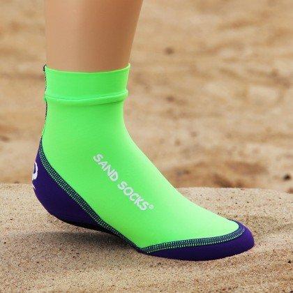 Sand Socks Toddler Lime Green Medium ()