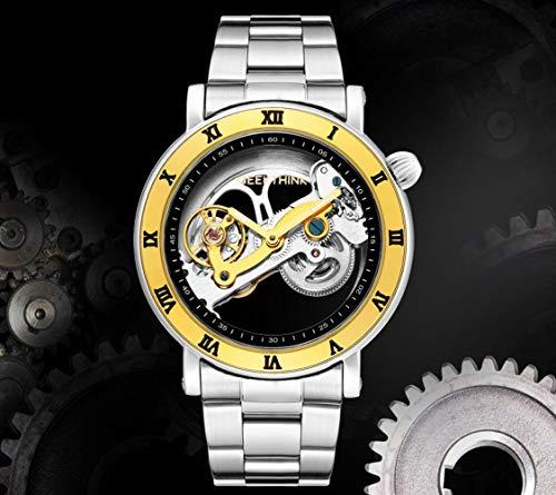 Relojes De Pulserareloj Mecanico Creativo Completamente Hueco Completamente Automatico Para Hombres