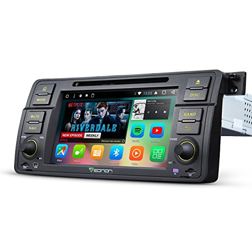 Eonon GA8150A Car Radio Stereo Audio for BMW E46 Android 7.1 Octa- Core 32GB+ 2GB Car GPS Navigation with Bluetooth GPS Navigation Support Fastboot Wifi MirrorLink AUX USB SD Backup Camera (Bmw Navigation System)