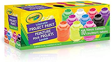 Crayola 54-1215 Washable Neon Paint, School, Craft, Painting and Art Supplies, Kids, Ages 3,4, 5, 6 and Up, Back to...