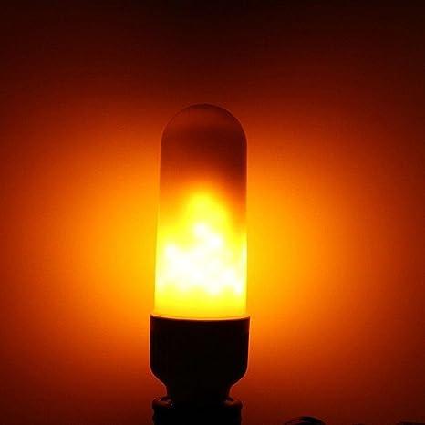 Bombillas LED E26 Bombilla del Fuego, homebaby Navidad decorativo – Bombillas LED – luz cálida