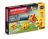 Magformers Tiny Friends 20 Pieces, Rainbow Colors, Educational Magnetic Geometric Shapes Tiles Building STEM Toy Set Ages 3+