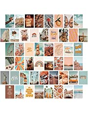 PROCIDA Aesthetic Wall Collage Kit Room Decor for Teen Girls, Boho Peach Orange Summer Beach Photo Collection Posters for Dorm Bedroom Apartment Wall Art Decor