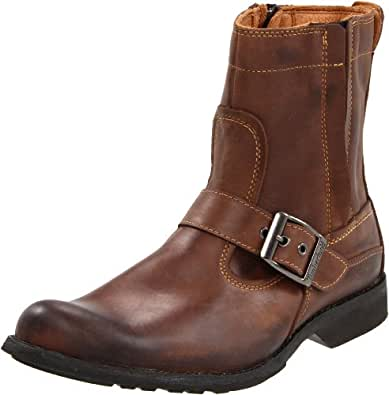 Timberland Men's Earthkeeper City Side Zip Buckle Boot,Burnished Brown,8.5 W US