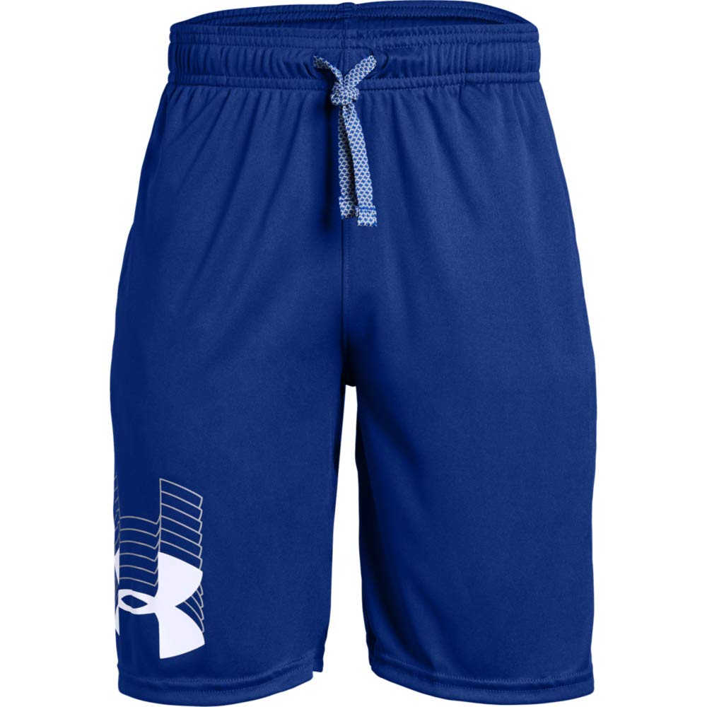 Under Armour boys Prototype Logo Shorts, Royal (400)/White, Youth X-Small