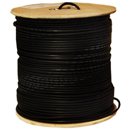 C&E 1000 feet CAT5E 24AWG 4PR Direct Burial Outdoor Gel Filled Ethernet Cable Black