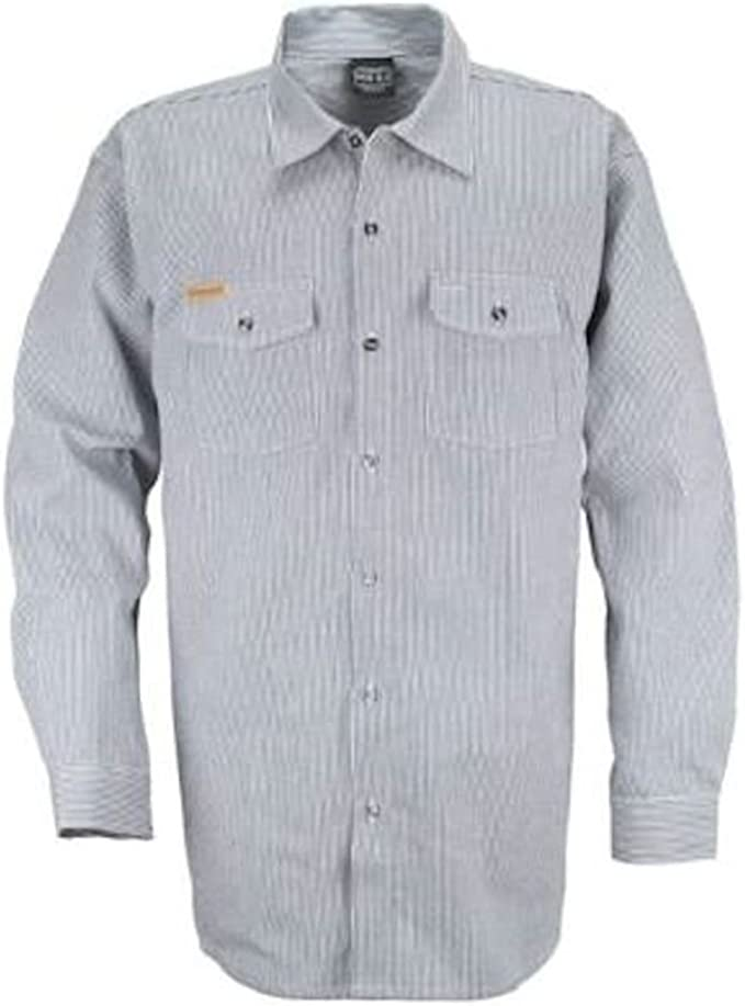 Men's Vintage Workwear Inspired Clothing Prisonblues.net Long Sleeve Hickory Shirt $41.90 AT vintagedancer.com