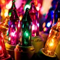 hykolity Multi Color Mini Christmas Lights - Indoor/Outdoor 100 Count Mini String Light Green Wire Connectable 3 Inch Bulb Spacing UL Listed