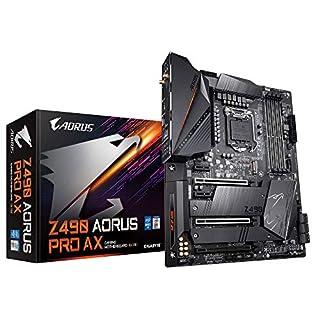 GIGABYTE Z490 AORUS PRO AX (Intel LGA1200/Z490/ATX/Intel 2.5G LAN/Direct 12 Phase Digital Power/Dual M.2/SATA 6Gb/s/USB 3.2 Gen 2/Intel WiFi 6/Fins-Array II/Gaming Motherboard)