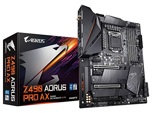 GIGABYTE Z490 AORUS PRO AX (Intel LGA1200/Z490/ATX/Intel 2.5G LAN/Direct 12 Phase Digital Power/Dual M.2/SATA 6Gb/s/USB 3.2 Gen 2/Intel WiFi 6/Fins-Array II/Gaming Motherboard)