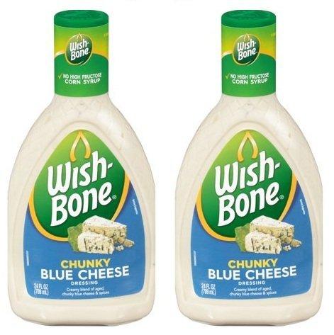 Wish-Bone Chunky Blue Cheese Dressing 24 fl. oz. Plastic Bottle (Pack of 2) by Wish-Bone