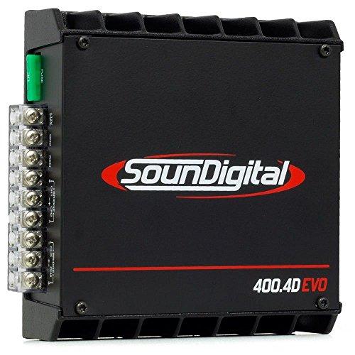 Módulo Amplificador SounDigital SD400 4D Evo 400W 2 Ohms 4 Canais RCA