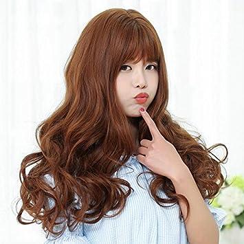Amazon Com Tony Liu Qi Korean Women Girls Female Wig Long Curly
