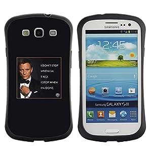 LASTONE PHONE CASE / Suave Silicona Caso Carcasa de Caucho Funda para Samsung Galaxy S3 I9300 / James secret agent man poster text