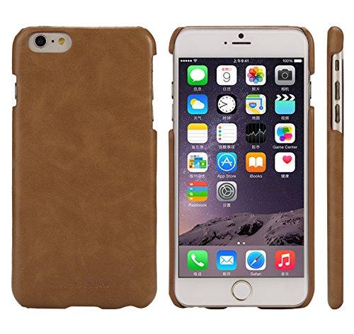 iPhone 6S Plus Case, AceAbove iPhone 6S Plus slim case [Saddle Brown] - Premium PU Leather Cover [Low Profile] for Apple iPhone 6 Plus (2014) / iPhone 6S Plus -